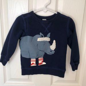 Carters 2T Boys Long Sleeve Blue Sweatshirt